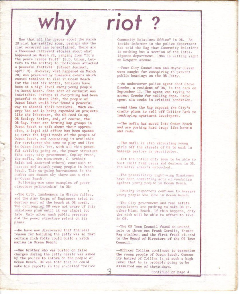 OB Rag Vol.1, No. 13 - late April 1971