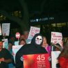 Thumbnail image for Scary crowd protests Blue Shield – photo gallery and report