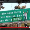 "Thumbnail image for Watch the Video of the Guy Who Put ""Sucks"" in the SeaWorld Freeway Sign"
