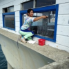 Thumbnail image for Window-Washer at OB Pier Cafe Loves Her New Job