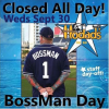 Thumbnail image for Sept 30th: Hodad's Closed All Day for BossMan Day
