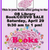 Thumbnail image for OB Library Book Sale : Saturday April 29