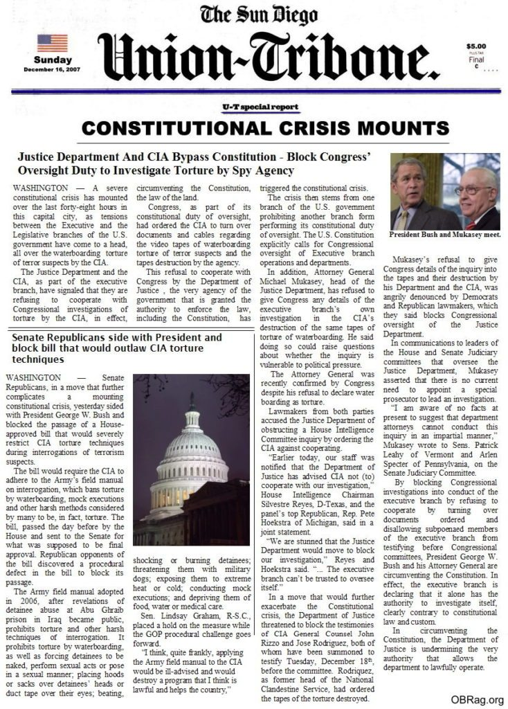 Constitutional Crisis Mounts