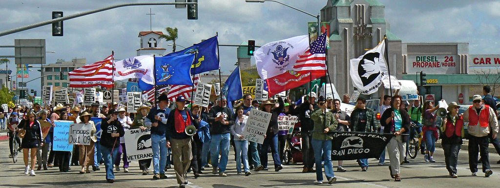 Peace Rally in San Diego, March 15 2008, courtesy of unk4jazz