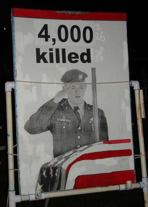 4000 Dead, San Diego Vigil for Slain Soldiers