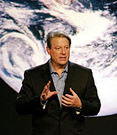 Former Vice President Al Gore introduced an ambitious plan to rely completely on clean, renewable energy within the next decade.