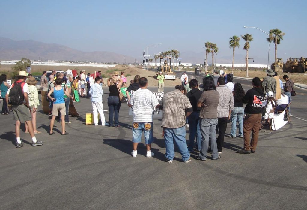 Protest near the U.S. Mexico border