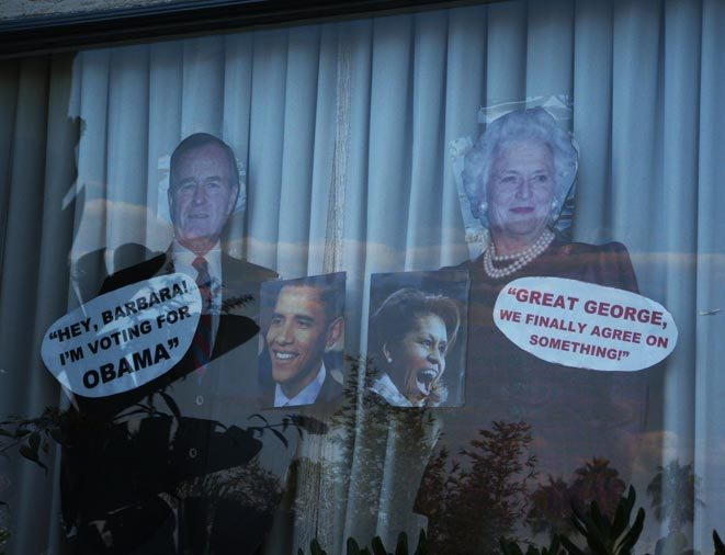 Election 2008 window dressing in Ocean Beach