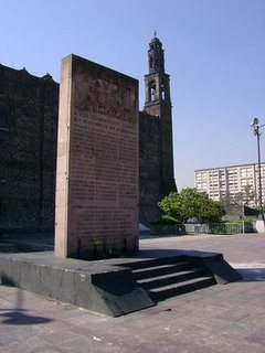 Memorial to those who fell October 2, 1968 in Tlatelolco, Mexico City.