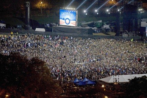 Image result for obama grant park rally 2008
