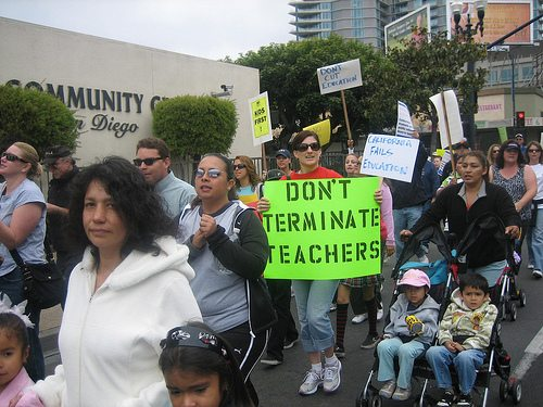 Calif San Diego ed teach protest