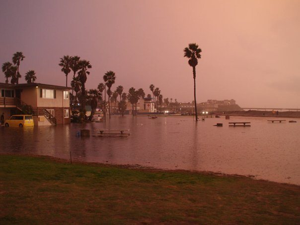 Post image for Do You Remember When the Pacific Ocean Flooded OB's Front Yard ? A Photo Gallery From January 2010