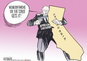 california budget cartoon hostage