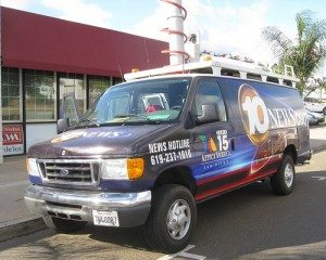 channel 10 news van