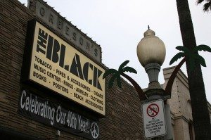 Black storefront