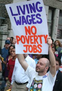 living wages sign