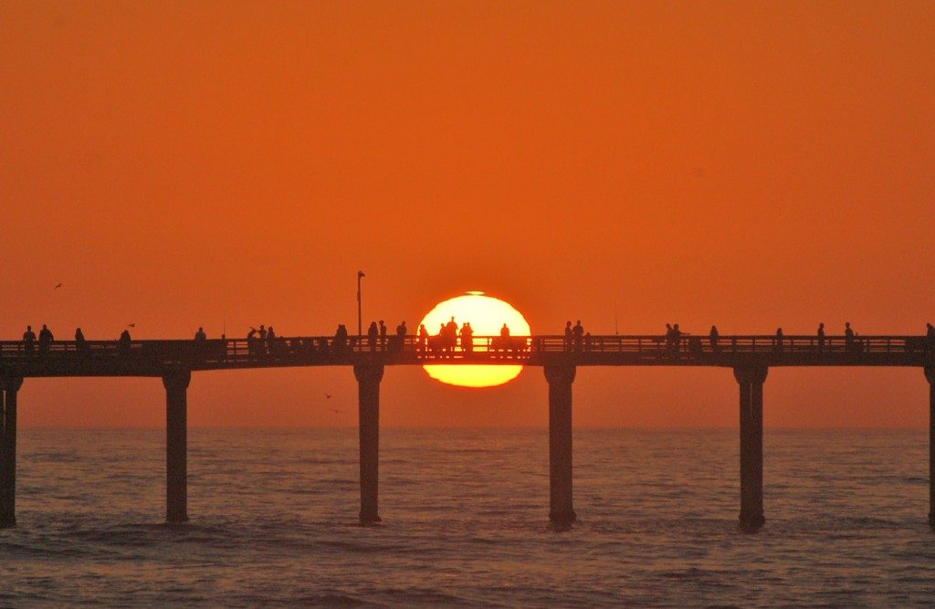 sunset at pier jg july 2010