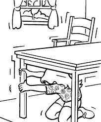 earth quake under table