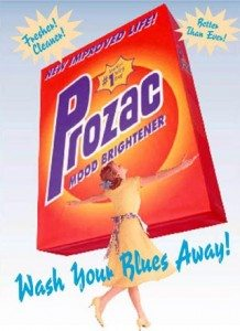 prozac wash away