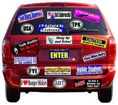 bumper sticker many
