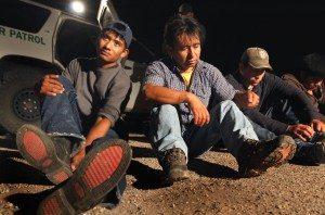 migrants captured shoes