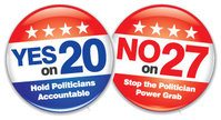 election prop 20 -27 buttons