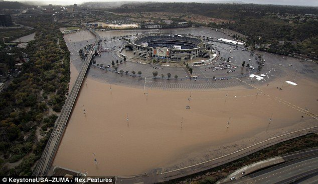 Was Qualcomm Stadium Flooded Recently By Sewage Or Rainwater