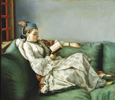 "Jean Etienne Lìotard: ""Met her last night at Winston's; now she won't leave"""