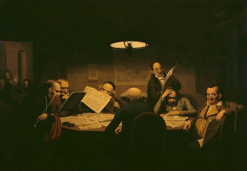 "Johann Peter Hasenclever: ""Planning Board hard at work"""