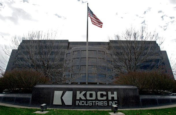 The koch brothers web of influence for Koch industries