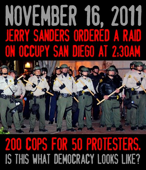 To Da Loos November 2011: JERrY SAndErs ORDeRed A RAId ON OcCuPy