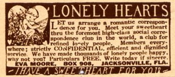 Lonely hearts dating