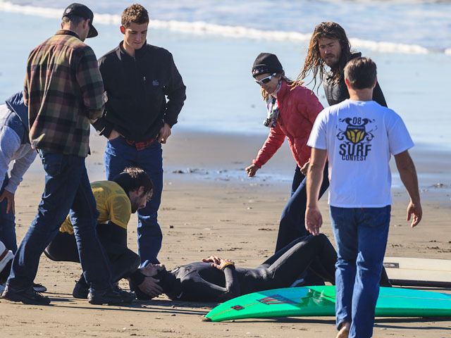 Mike Parsons surfer injurd