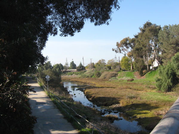 rose creek path from Balboa bridge
