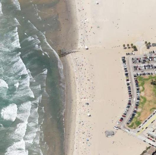 dog beach aerialview