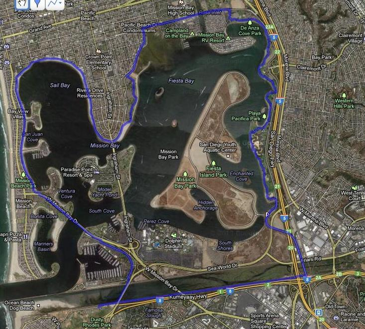 Mission Bay bike map Apr2013