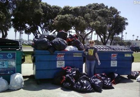 OB BeachCleanUp dumpsters 2011