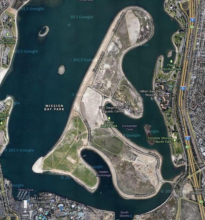 Fiesta Island googmap