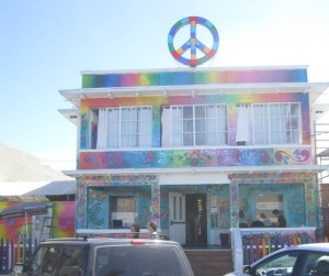 "Post image for Readers – Both Residents and Visitors – Voted Overwhelmingly to Keep ""Hippie Floral"" Design on OB Hostel"