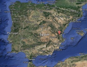 Spain - Bunol -map