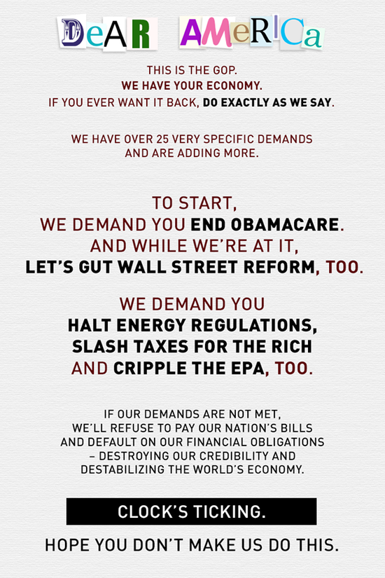 GOP Ransom Note