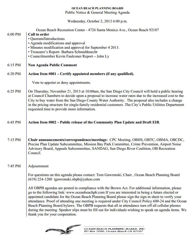 OB Plan Bd Agenda 10-02-13