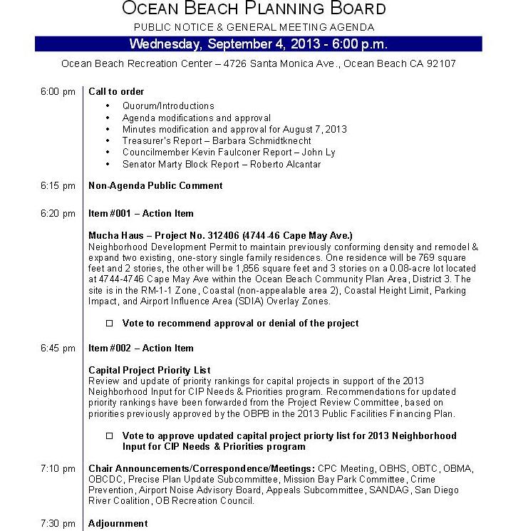 OB Plan Bd agenda 9-04-13