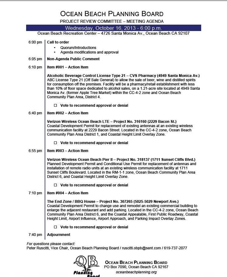 OB Plan Bd Agenda 10-16-13
