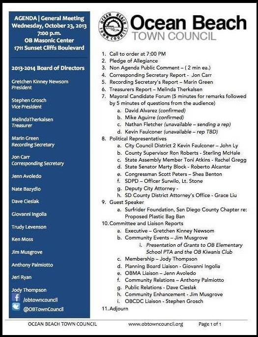 OBTC Agenda 10-23-13
