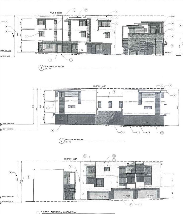Construction at voltaire and catalina 3 story development for 3 storey commercial building floor plan