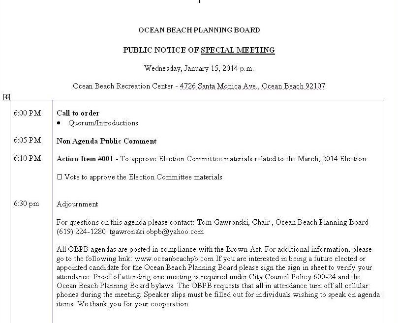 OB Plan Bd agenda spec 01-15-14