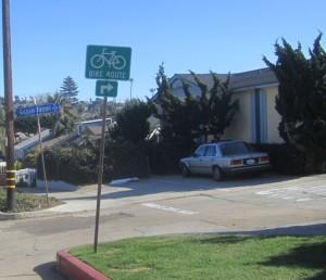 OB Dist 5 bikealleySign