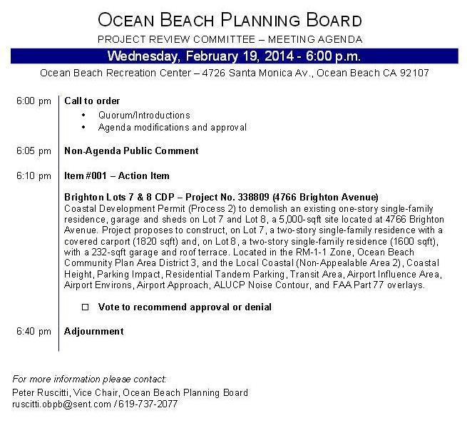 OB Plan Bd Agenda 02-19-14