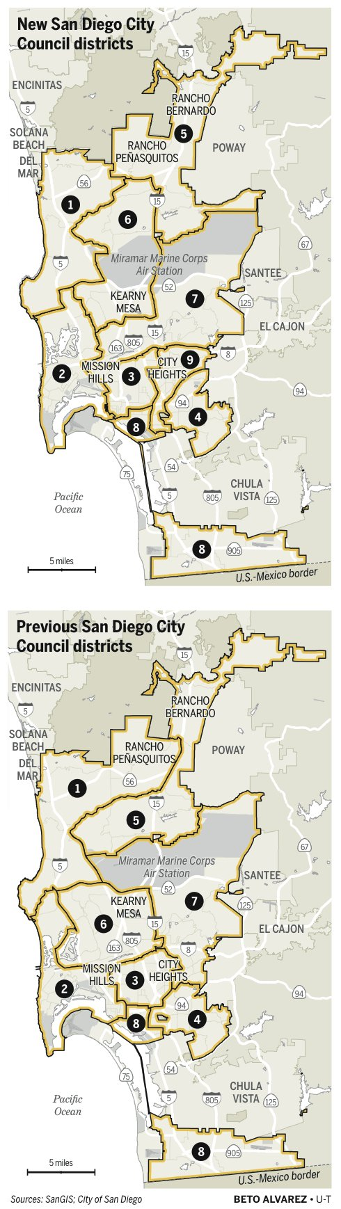 san diego new city council districts 2011